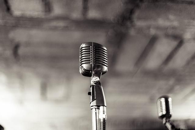 Micrófono para dar voz a la narración