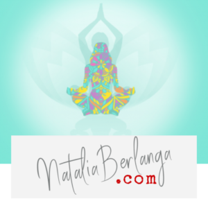 silueta meditando con colores de mandala