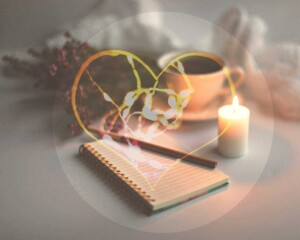 Un corazón que refleja mi escritura, mi hogar